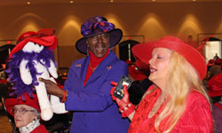Red Hatters Celebrate the Holidays with Glitz and Glamour