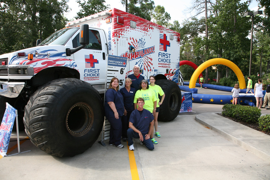 "First Choice Emergency Room brings interactive ""Whambulance"" to Kingwood"