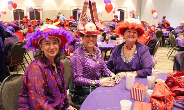 Precinct 4 Celebrates Red Hat Society's Birthday