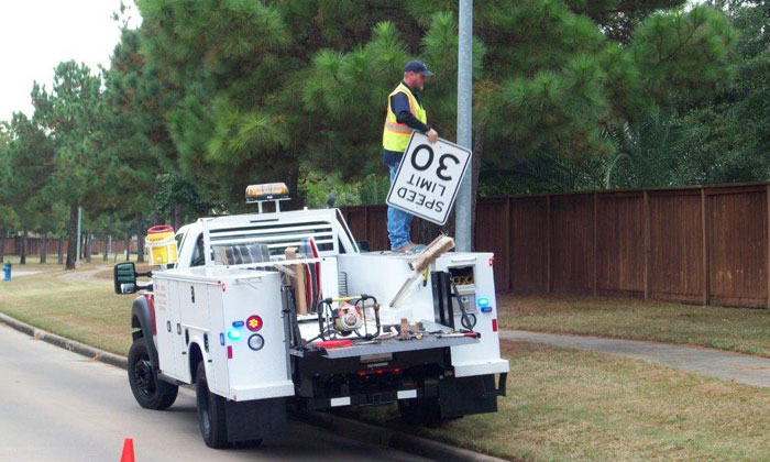 Precinct 4 Crews Meet Increased Demand for Traffic Signs